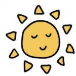 Soleil souriant esprit calme et apaisé