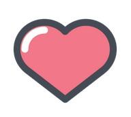 Coeur rouge reposé, protégé libre